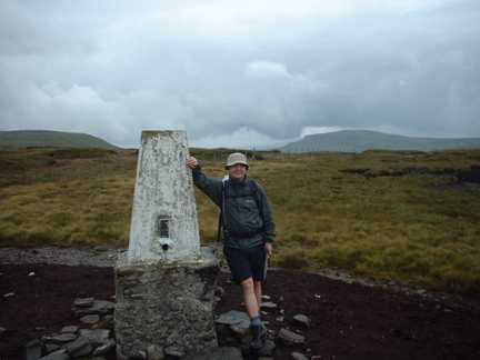Matt by the trig point on Darnbrook Fell