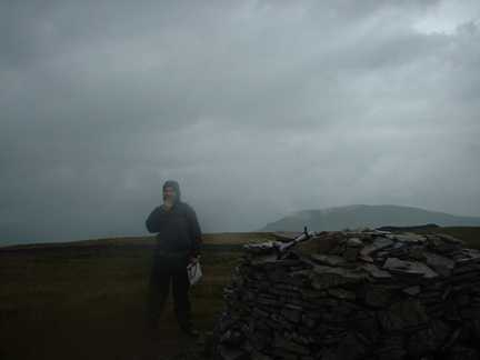 Matt on the top of Fountains Fell