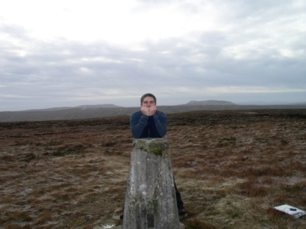 Matt on the summit of Yockenthwaite Moor