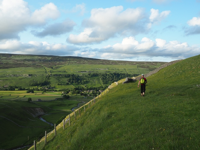 Approaching Arncliffe on the Monk's Road above Cowside Beck