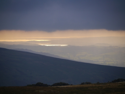 A distant view of Morecambe Bay
