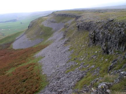 Looking along Moughton Scars