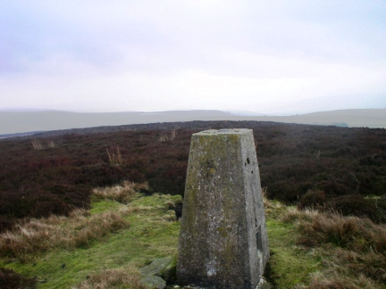 The trig point on New Pasture Edge