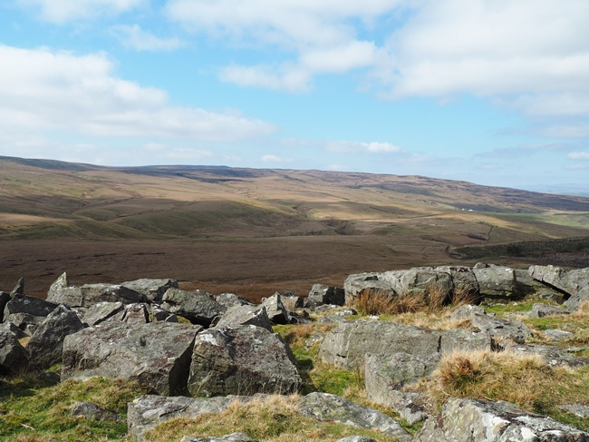 Looking towards Nine Standards Rigg from above Woofer Moor