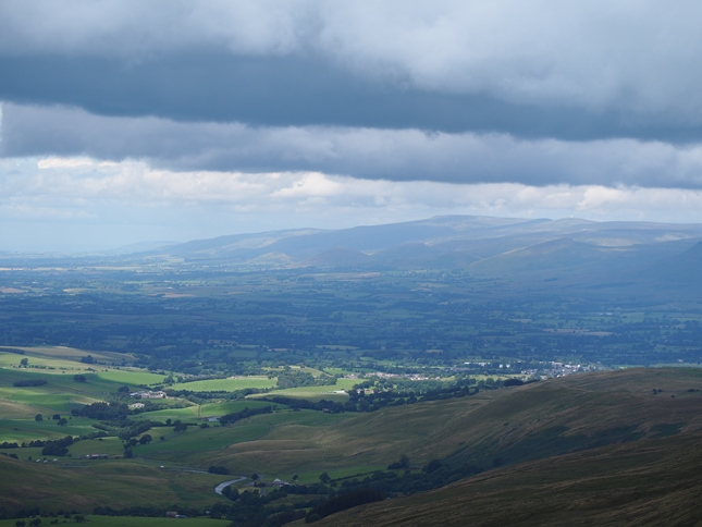 Looking towards Cross Fell and the North Pennines