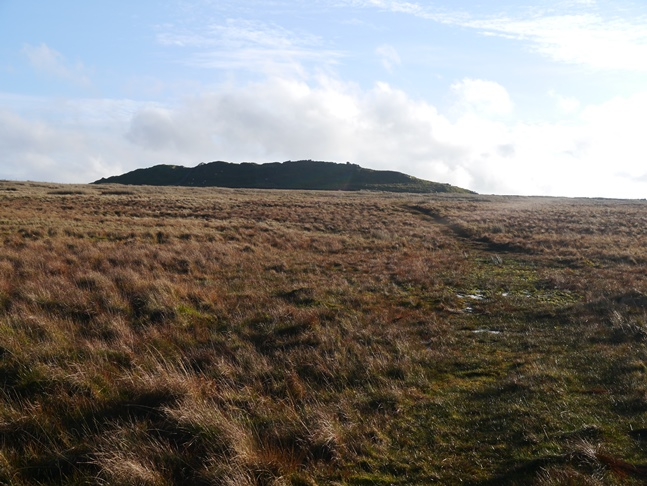 Approaching the limestone knoll of Nursery Knot