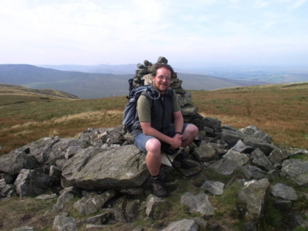 Sat by the remains of the cairn on Archy Styrigg