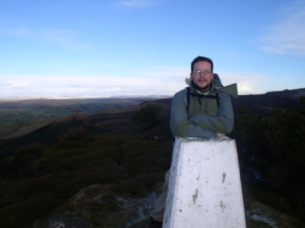 By the trig point on Crookrise Crag