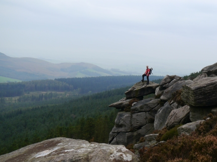 On one of the outcrops of Crookrise Crag