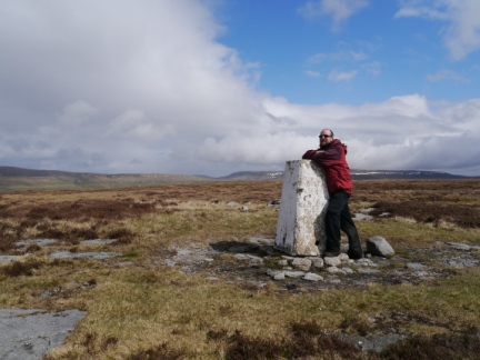 By the trig point on Firth Fell