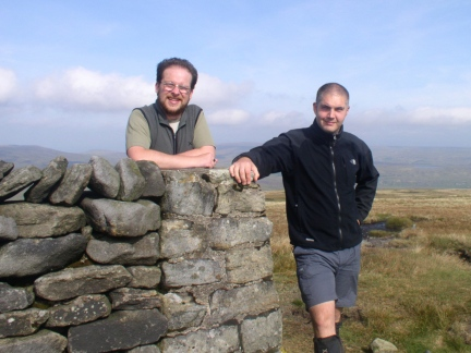 Matt and I on the top of Great Shunner Fell