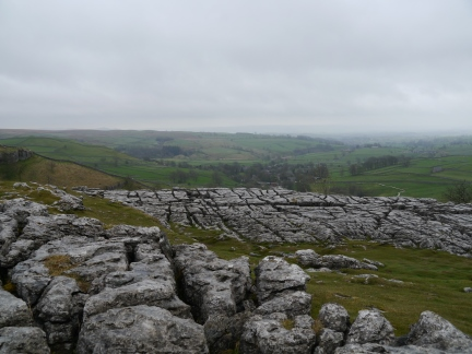 Limestone pavement on Malham Cove