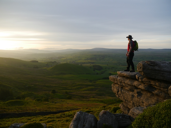 Enjoying the late evening sunshine from Numberstones End