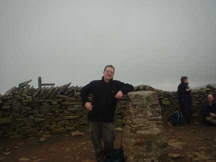 By the trig point on Pen-y-Ghent