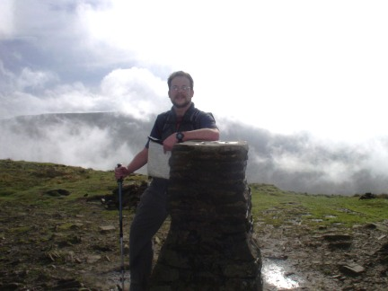 On the summit of Pen-y-Ghent