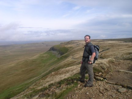 By the Pennine Way as it descends north from Pen-y-Ghent