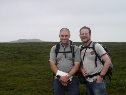 Matt and I on the top of Thorpe Fell