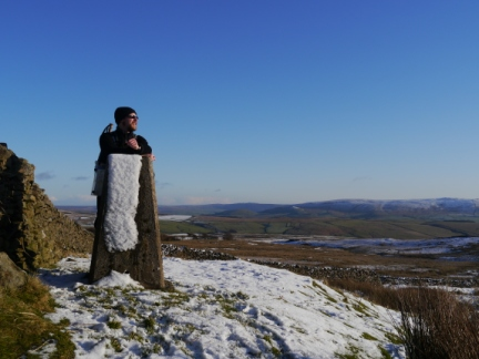 By the trig point on Weets Top