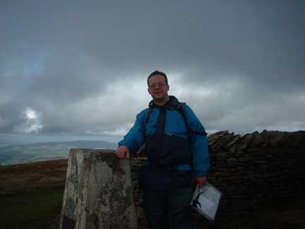 On the summit of Whernside