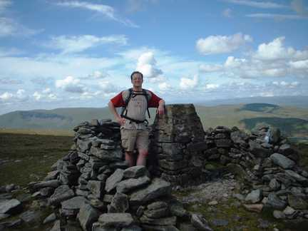 On the summit of Wild Boar Fell