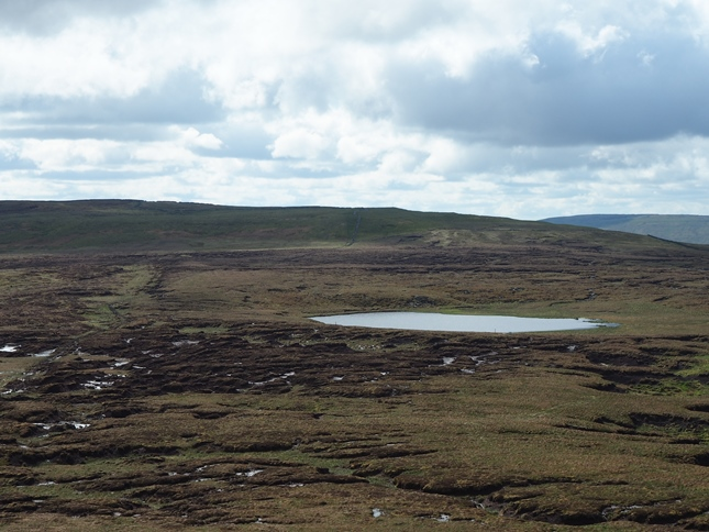 The peaty approach to Oughtershaw Tarn