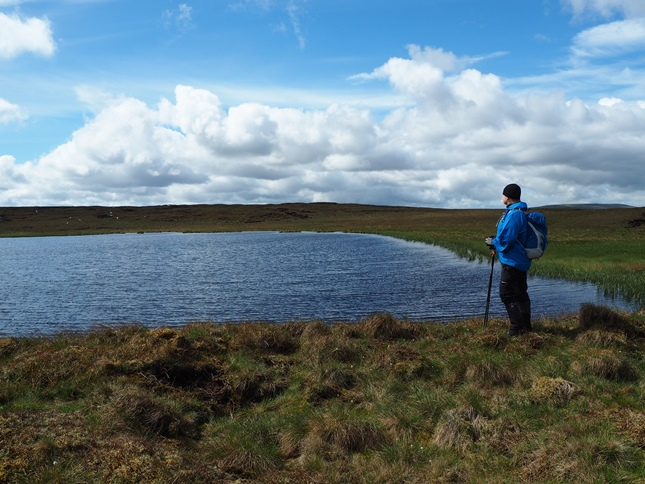 Paul enjoying the view across Oughtershaw Tarn