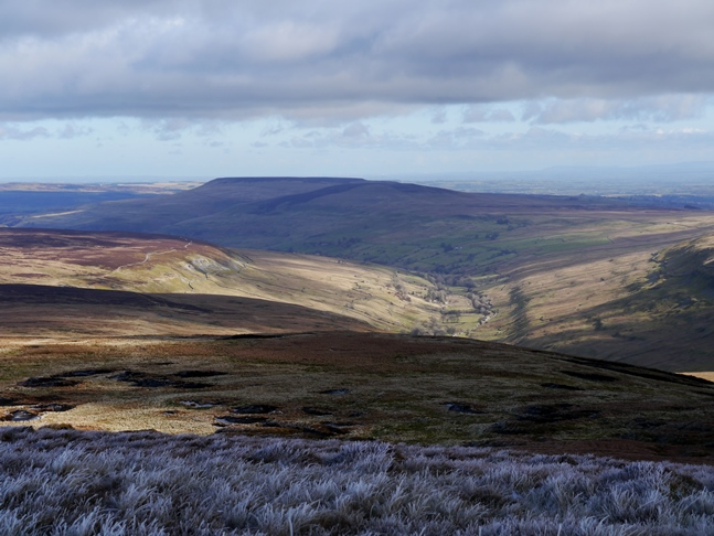 The view of Pen Hill and the Walden valley from Buckden Pike