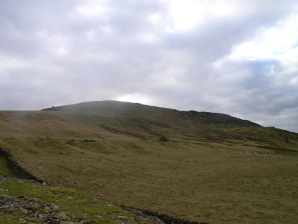 Looking back up to Pen Hill End and Penhill Scar