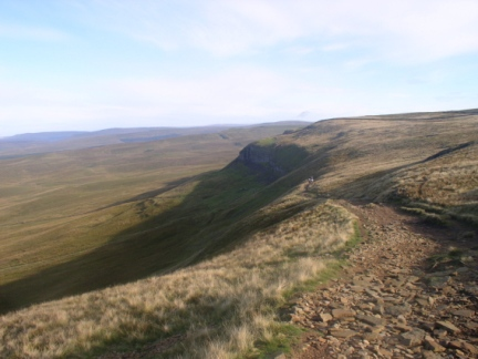 The Pennine Way as it descends Pen-y-Ghent