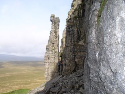 Stood next to the impressive Pen-y-Ghent pinnacle