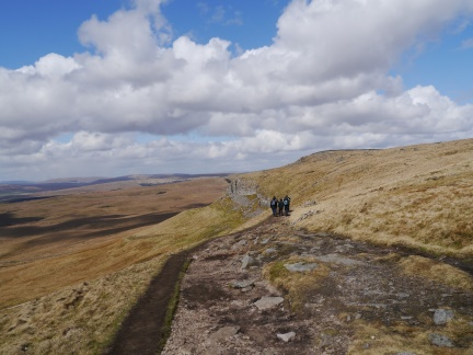 The group descending Pen-y-Ghent