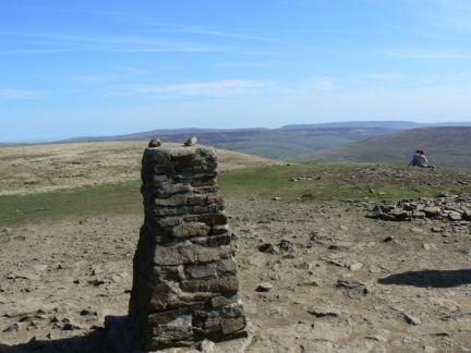 The trig point on Pen-y-Ghent