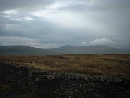 Fountains Fell and Pen-y-Ghent from Firth Fell