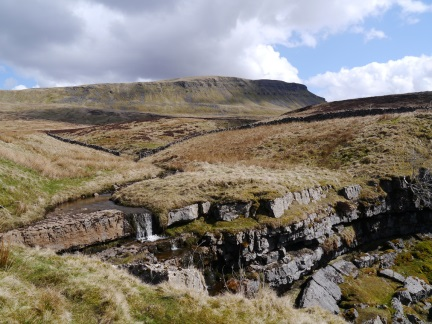 Looking back up at Pen-y-Ghent from Hunt Pot