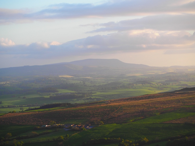 The view towards Pendle Hill