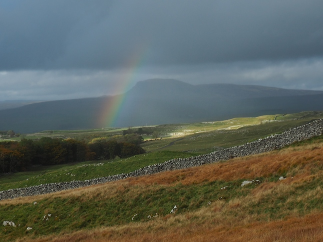 A rainbow over Penyghent