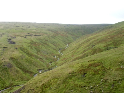 Baugh Fell and the upper reaches of Rawthey Gill