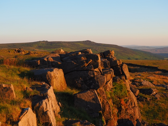 Looking towards Simon's Seat from Rear Clouts as the sun began to fade