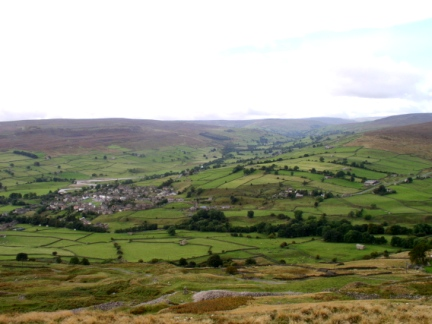 Looking down to Reeth