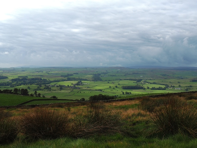 Looking across the Ribble valley towards the Bowland fells
