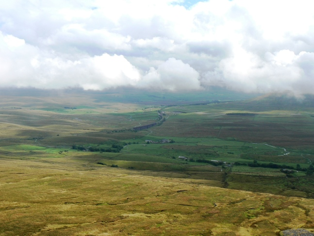 Looking back down to Ribblehead