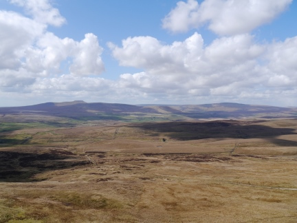 Looking across Ribblesdale towards Ingleborough and Whernside