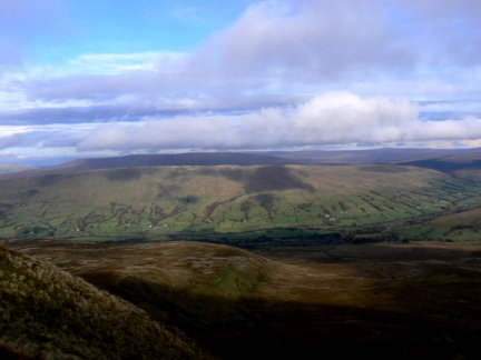 Rise Hill and Dentdale from above the Great Combe