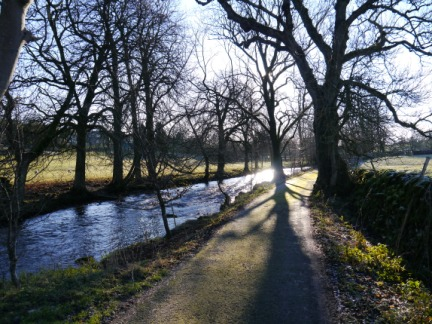 The path alongside the River Aire