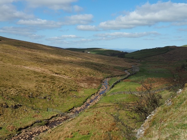 Looking down on the River Belah from Woofergill Scar