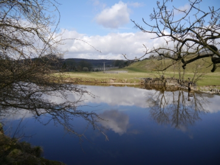 Clouds reflected on the Wharfe