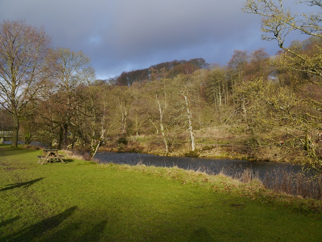 The River Wharfe by the parking area