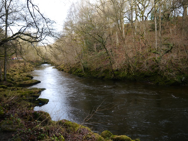 The River Wharfe just below The Strid