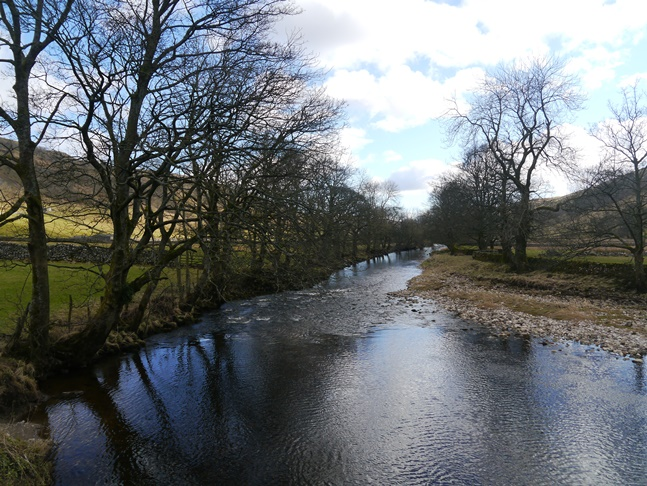 The River Wharfe from the bridge below Starbotton