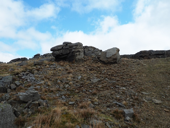 Quarried rocks on High Greygrits